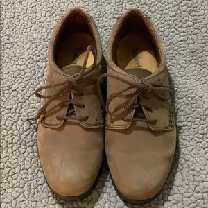 Timberland Brown Suede Leather Laced Oxfords EUC